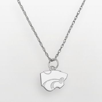 Kansas State Wildcats Sterling Silver Logo Pendant
