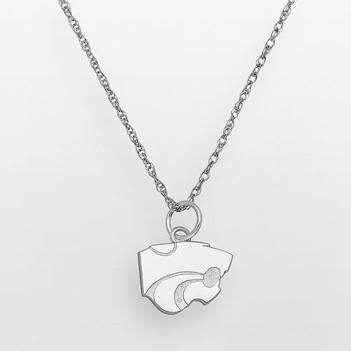 Kansas State Wildcats Sterling Silver Logo Pendant