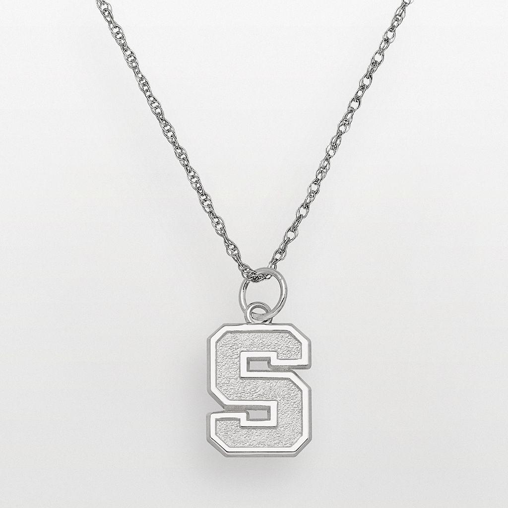 Michigan State Spartans Sterling Silver Logo Pendant