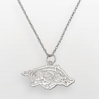 Arkansas Razorbacks Sterling Silver Logo Pendant