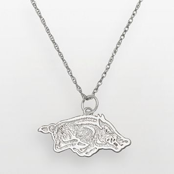 Arkansas Razorbacks Sterling Silver Logo Pendant