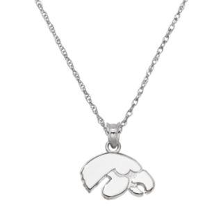 Iowa Hawkeyes Sterling Silver Logo Pendant