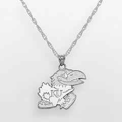Kansas Jayhawks Sterling Silver Mascot Pendant