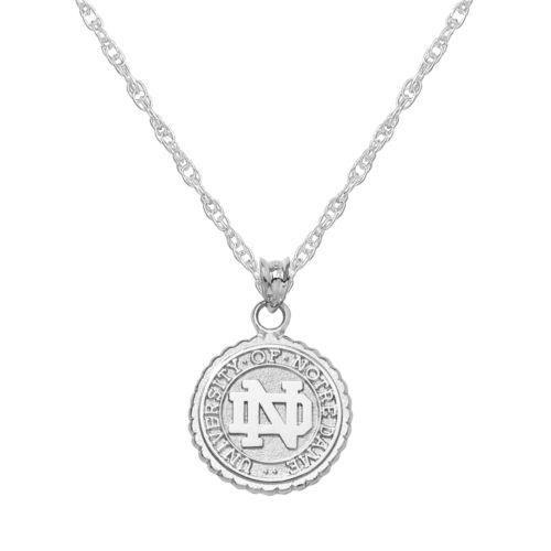 Notre Dame Fighting Irish Sterling Silver School Seal Pendant