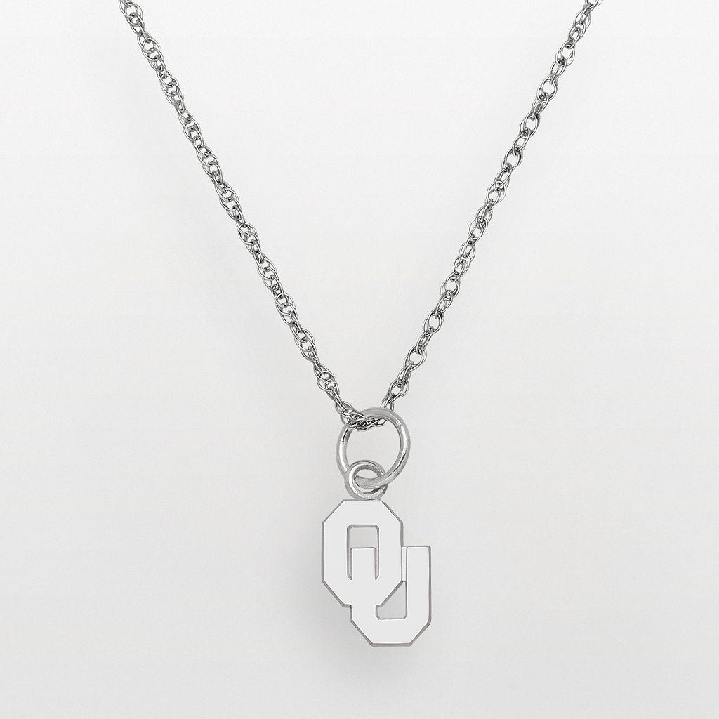 Oklahoma Sooners Sterling Silver Logo Pendant