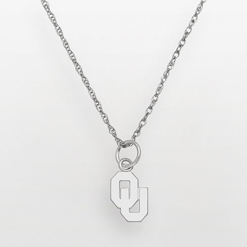 Oklahoma Sooners Sterling Silver Logo Pendant