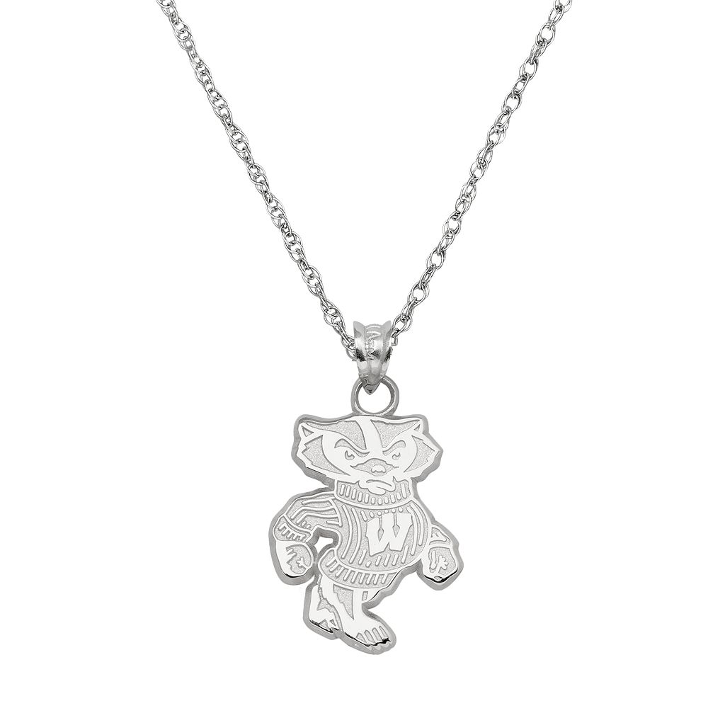 Wisconsin Badgers Sterling Silver Logo Pendant