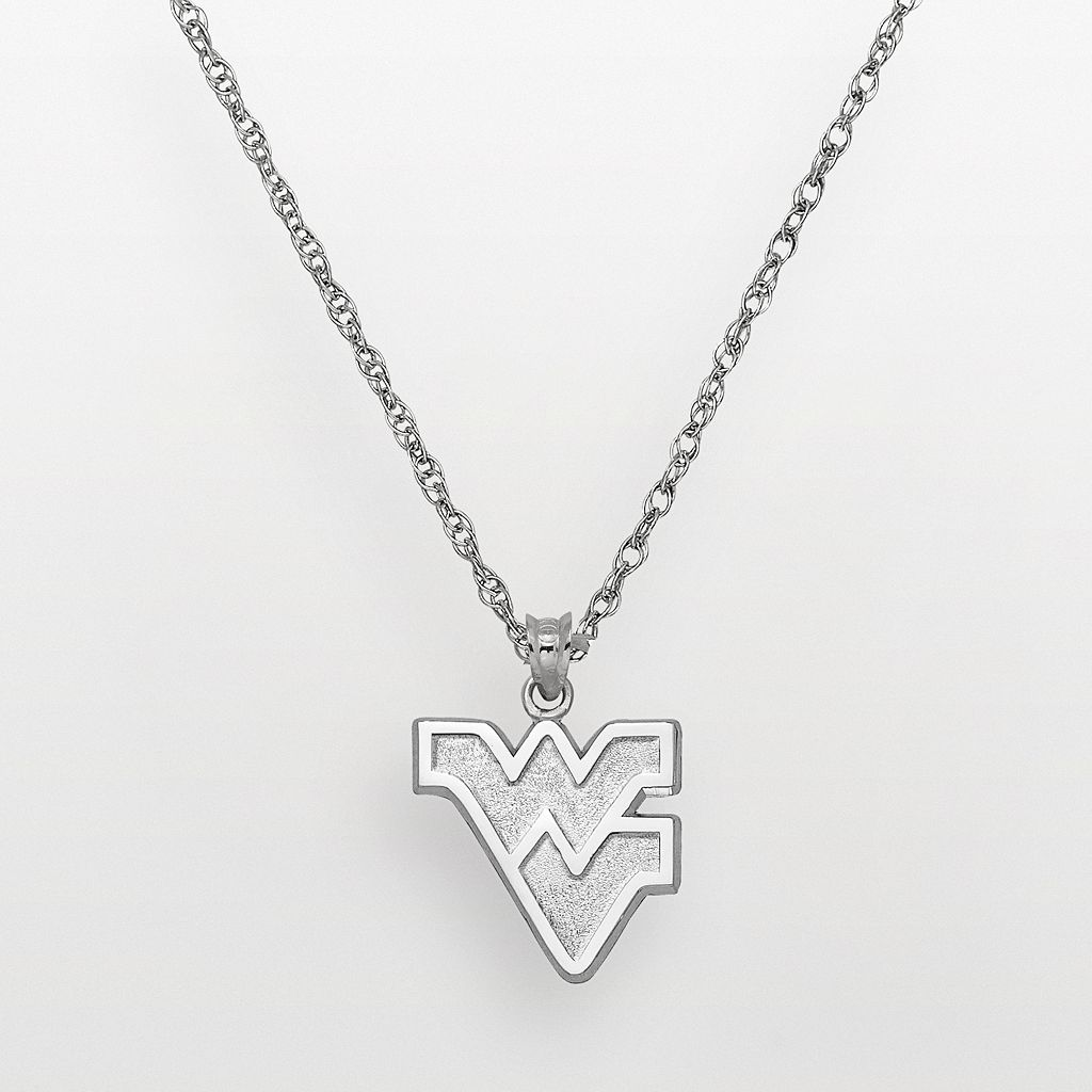West Virginia Mountaineers Sterling Silver Logo Pendant