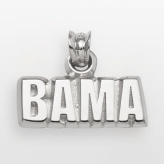Alabama Crimson Tide Sterling Silver Logo Pendant