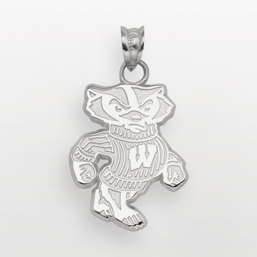 Wisconsin Badgers Sterling Silver Mascot Pendant