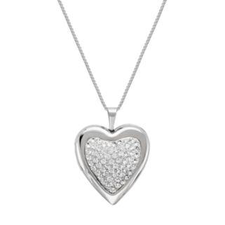 Sterling Silver Crystal Heart Locket