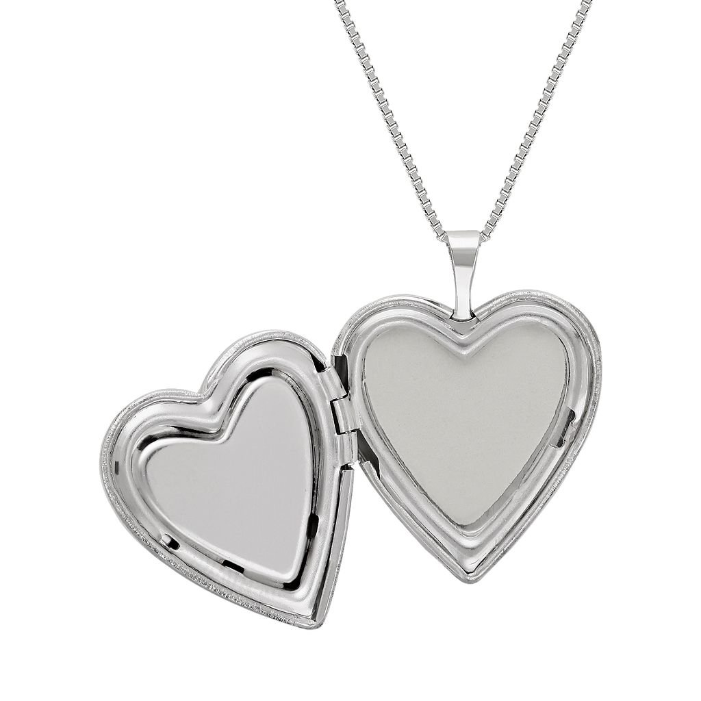 Sterling Silver Crystal Heart Locket