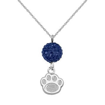 Penn State Nittany Lions Sterling Silver Crystal Logo Y Necklace