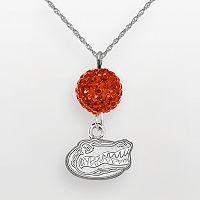 Florida Gators Sterling Silver Crystal Logo Y Necklace