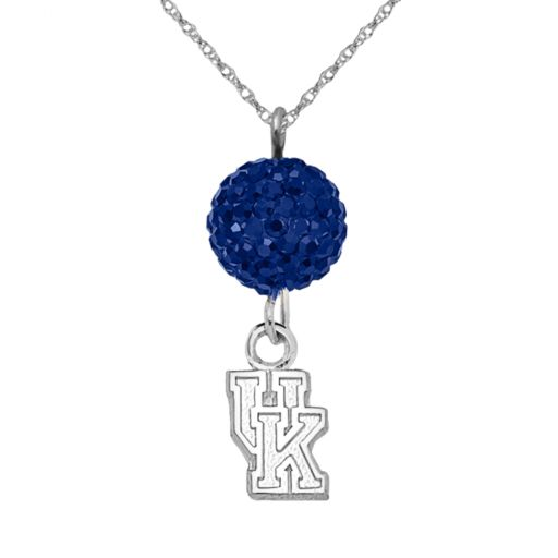 Kentucky Wildcats Sterling Silver Crystal Logo Y Necklace