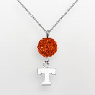 Tennessee Volunteers Sterling Silver Crystal Logo Y Necklace
