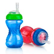 Nuby 2-pk. No-Spill 10-oz. Cups with Flex Straw - Baby