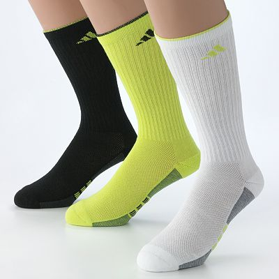 adidas 3-pk. ClimaCool Striped Crew Performance Socks