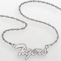 LogoArt Detroit Tigers Sterling Silver Script Necklace