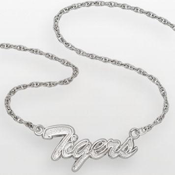 LogoArt Detroit Tigers Sterling Silver Script Necklace