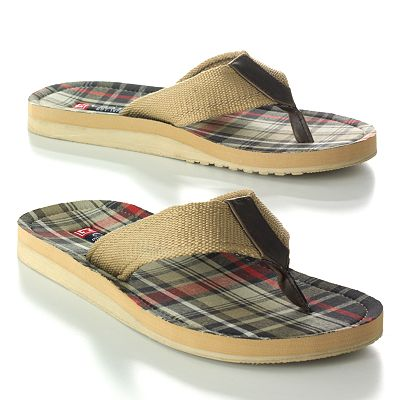 Chaps Plaid Flip-Flops - Men