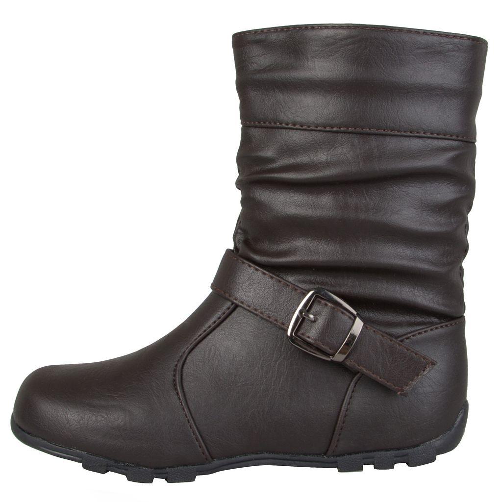 Journee Katie Girls' Midcalf Boots