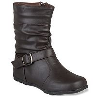 Journee Katie Girls' Midcalf Boots