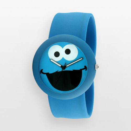 Sesame Street Cookie Monster Blue Silicone Slap Watch - SW613CM - Kids