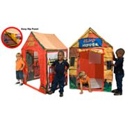 Kid's Adventure 2-in-1 Club House and Fire Station Play Tent