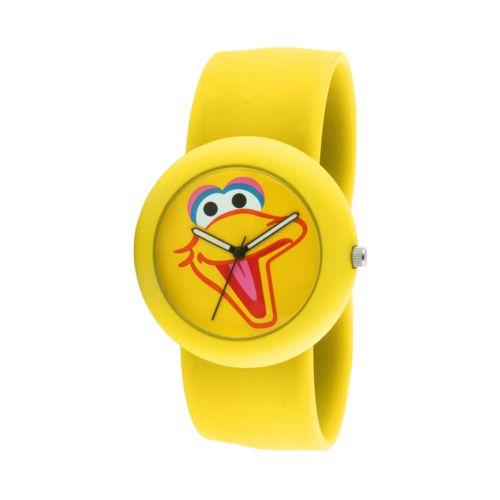Sesame Street Big Bird Yellow Silicone Slap Watch - SW613BB - Kids
