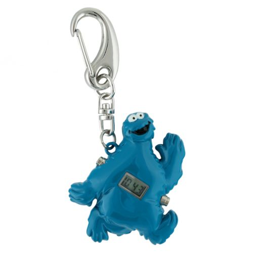 Sesame Street Cookie Monster Silver Tone Clip-On Digital Watch - SW2501CM - K