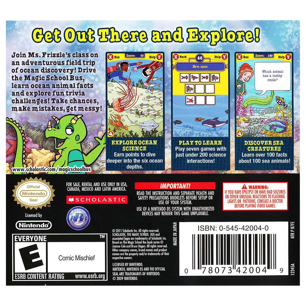The Magic School Bus Oceans for Nintendo DS