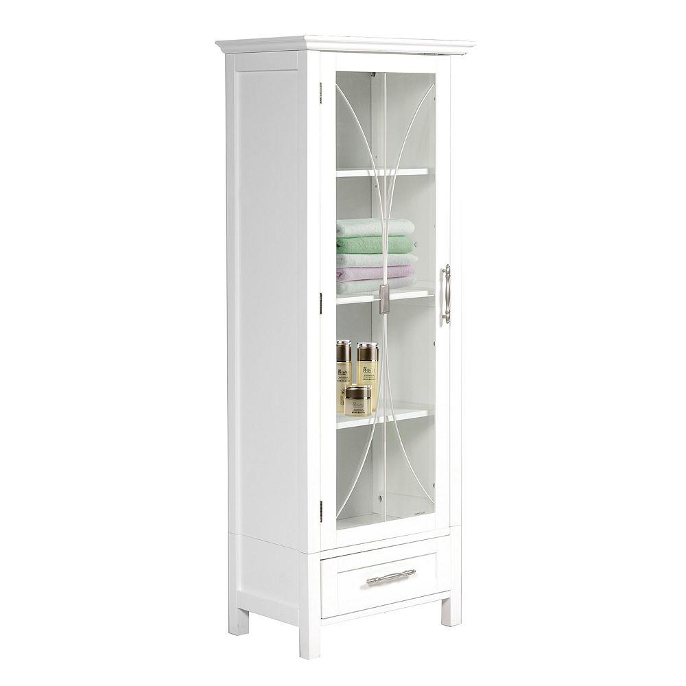 Elegant Home Fashions Rose Linen Cabinet