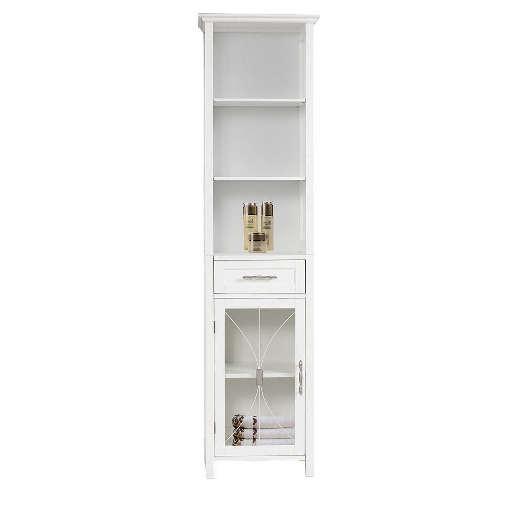 Elegant Home Fashions Narrow Rose Linen Cabinet