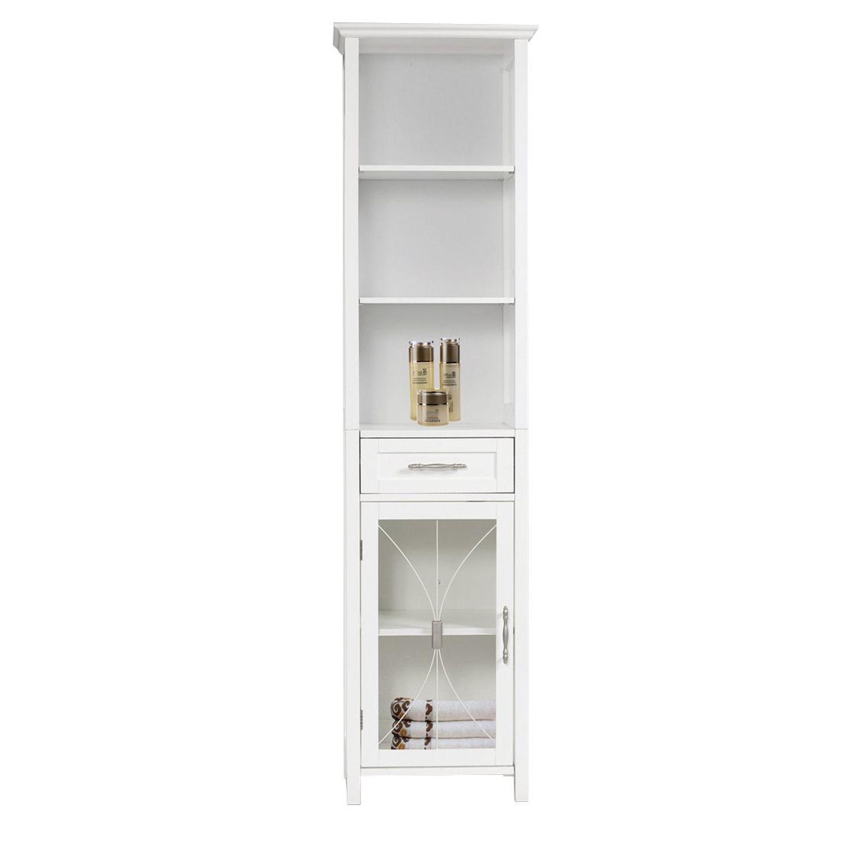 Elegant Home Fashions Narrow Rose Linen Cabinet