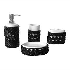 Elegant Home Fashions Tabitha 4-pc. Bath Accessory Set