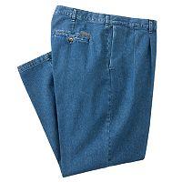 Big & Tall Lee Stain Resist Classic-Fit Pleated Denim Pants