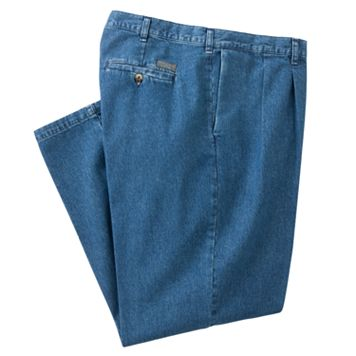 Big & Tall Lee Stain Resist Classic-Fit Pleated Denim Pants