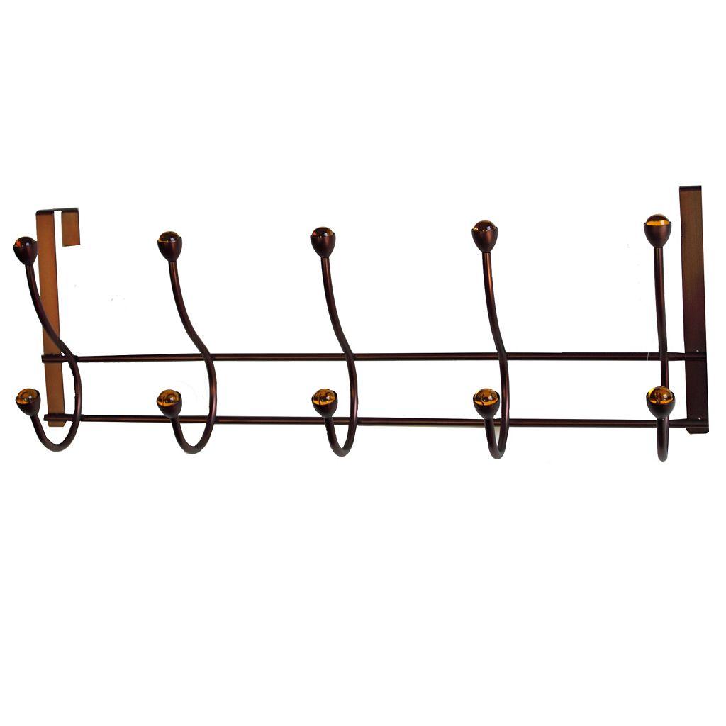 Elegant Home Fashions Amber Over-The-Door 5-Hook Metal Hanger