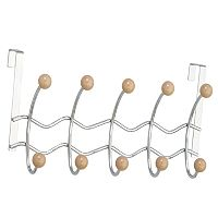 Elegant Home Fashions Wave Over-The-Door 5-Hook Metal Hanger