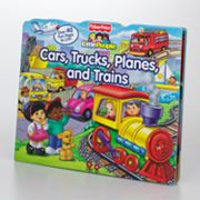 Fisher-Price Little People Cars, Trucks, Planes and Trains Lift-the-Flap Book