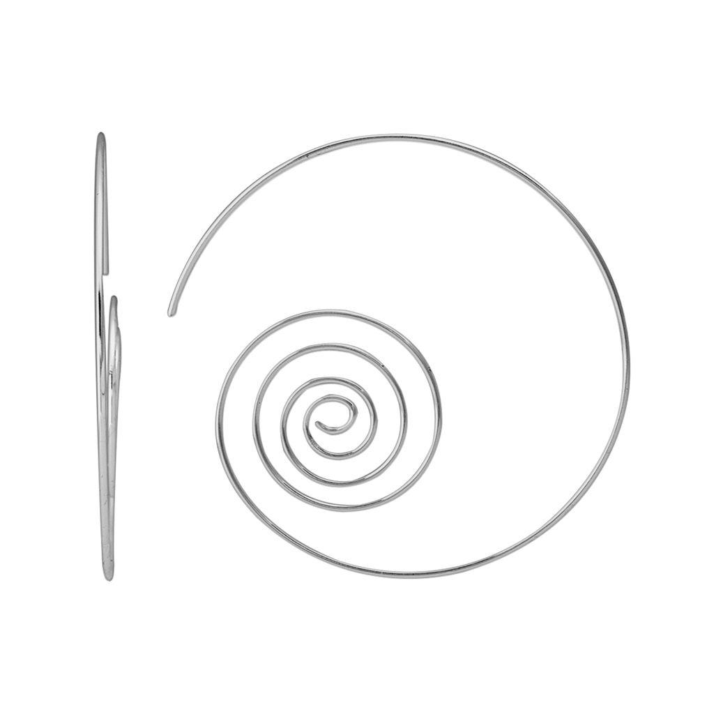Sterling Silver Spiral Hoop Earrings
