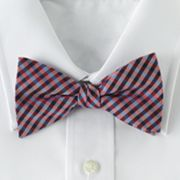 Croft and Barrow Gingham Pretied Bow Tie