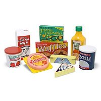 Melissa & Doug Wooden Fridge Food 8 pc Set