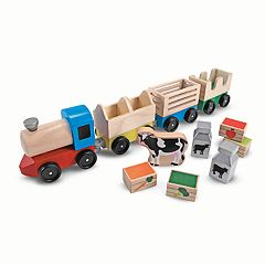Melissa & Doug Wooden Farm Train Playset