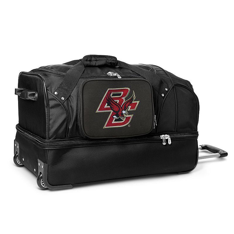 Boston College Eagles 27-Inch Rolling Duffel Bag, Black