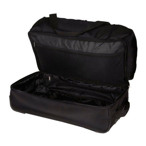 Kansas Jayhawks 27-Inch Rolling Duffel Bag