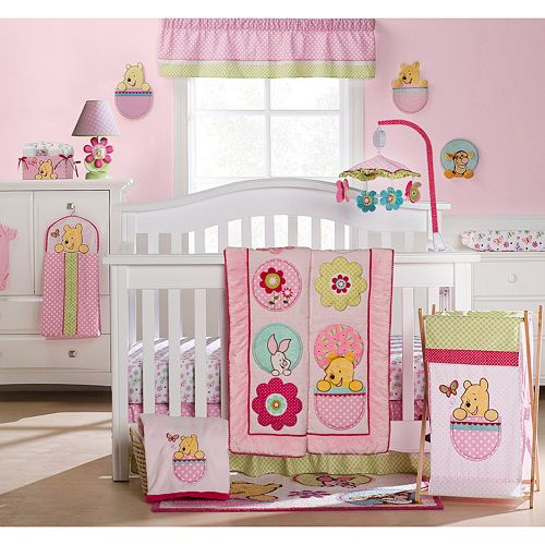 Disney Winnie The Pooh Spring Friends 4 Pc Crib Set By Kids