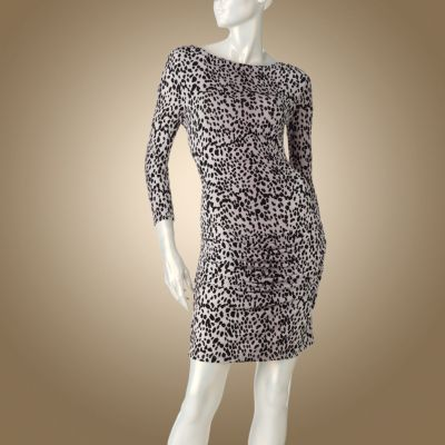 Jennifer Lopez Cheetah Ruched Dress