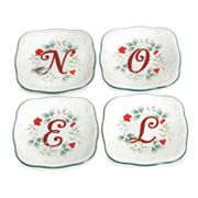 Pfaltzgraff Winterberry ''Noel'' 4-pc. Canape Plate Set